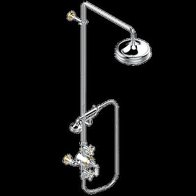 mitigeur thermostatique de douche apparent avec robinets d 39 arr t colonne de douche douchette. Black Bedroom Furniture Sets. Home Design Ideas