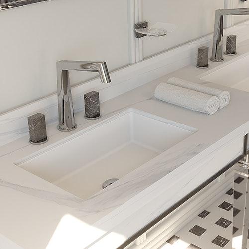 carla rechteckiges waschbecken einbaumontage 55 x 35 x 12. Black Bedroom Furniture Sets. Home Design Ideas