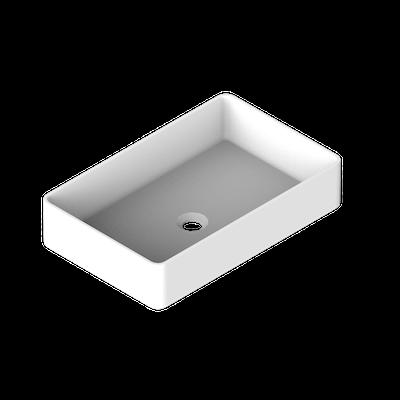 shade rechteckiges waschbecken freistehend 58 x 37 x 13 cm ohne ab und berlaufgarnitur b13. Black Bedroom Furniture Sets. Home Design Ideas